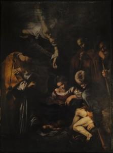 La presentazione dello svelamento della copia e del documentario prodotto da Sky sul dipinto di Caravaggio, ''Natività'', rubato 46 anni fa dalla mafia dall'oratorio di San Lorenzo, in una foto diffusa il 12 dicembre 2015. ANSA/ UFFICIO STAMPA SKY ++HO - NO SALES EDITORIAL SUE ONLY++