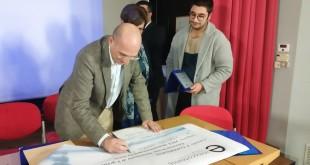 la premiazione del terzo classificato proveniente da Castelvetrano (Tp)