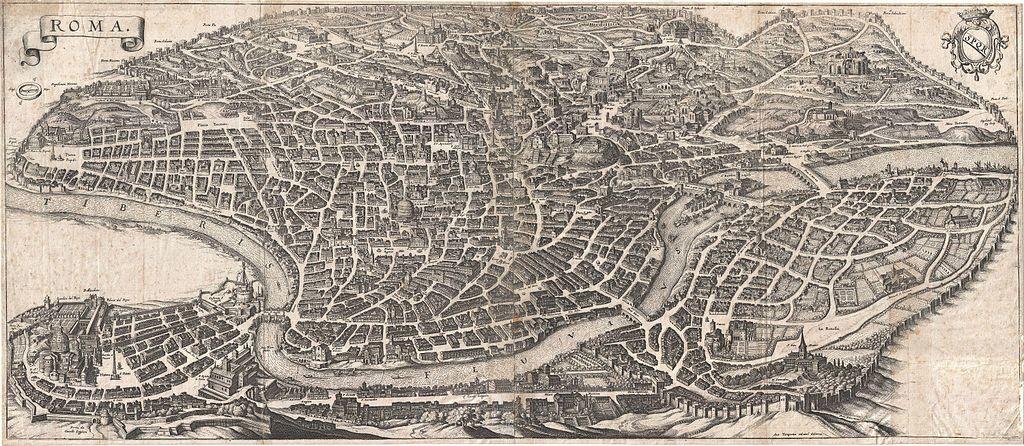 "Matthaus Merian, ""Roma"", (1642) Fonte: wikimedia.org"