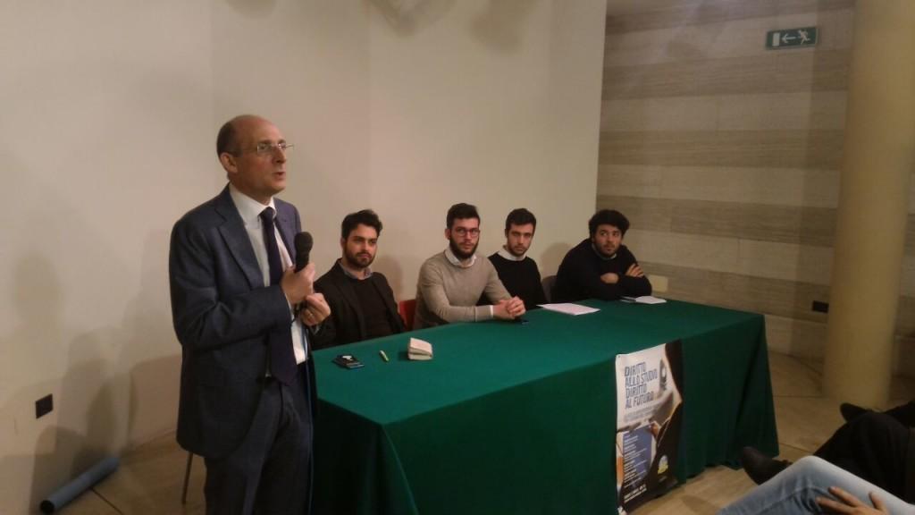 Da sinistra verso destra: Alberto Firenze, Giuseppe Bonanno, Vito Bongiovanni, Dario Gruppuso, Stefano Di Ganci