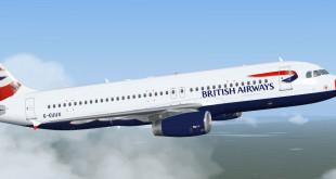 Un airbus A320 della compagnia British Airways