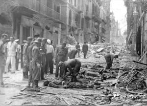 la conta dei morti nel centro storico