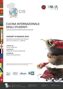 manifesto cucina internazionale degli studenti