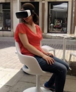 Prova dell'Oculus su sedia girevole.