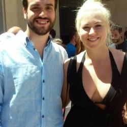 Bianca Stuhlpfarrer (Austria) e Mauro Grova, membro del Sism
