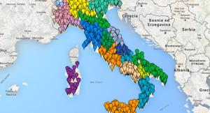 Mappa delle richieste per la valorizzazione di siti culturali