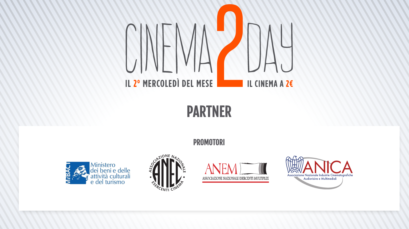 Mibact, la campagna web di Cinema2day