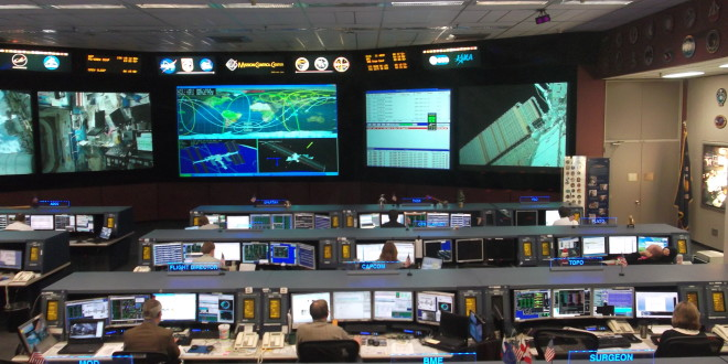 Sala controllo del Lyndon Johnson Space Center della NASA a Houston (texas)