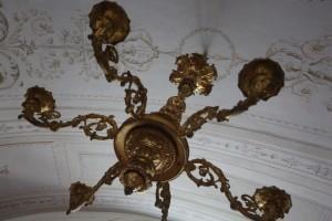 Gli antichi lampadari della Palazzina Cinese.