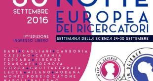 SARA' IL 30 SETTEMBRE LA NOTTE EUROPEA DEI RICERCATORI 2016