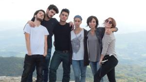 I ragazzi del Cast da sx verso dx: Giovanni Ciaramitaro, Giacomo Stallone, Marco Frezza, Caterina Gambetta, Sofia Gangi, Sara Pagliani.