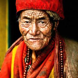 Monk at Jokhang  Temple, Lhasa, Tibet [2000]
