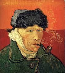 Vincent Van Gogh, autoritratto con orecchio tagliato e pipa, 1889