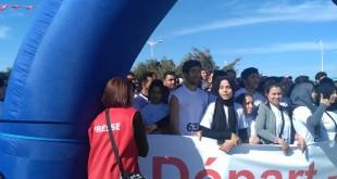 Nabeul, 5 marzo 2017. Al nastro di partenza della maratona