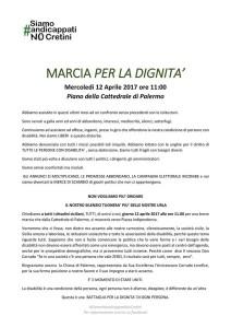 Marcia per la dignità