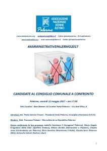Locandina Ande Palermo x Amministrative 2017