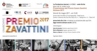 Presentazione del premio Cesare Zavattini, edizione 2017