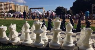 scacchi giganti parco uditore