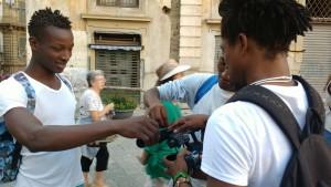 Foto scattata durante la realizzazione del progetto del Centro Sperimentale di Cinematografia di Palermo