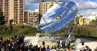 """Inaugurato ad Unipa il """"Dish stirling"""", concentratore solare unico in Europa"""