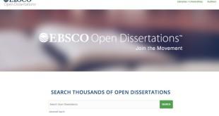 Accesso gratuito a tesi di laurea e dottorato, disponibile il progetto EBSCO Open Dissertationis