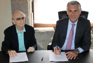 da sx: il presidente del Consorzio di Trapani Mario Serio e il rettore Unipa Fabrizio Micari