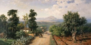 """""""Veduta di Palermo"""" di Francesco Lojacono (1875)"""