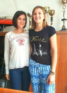 da sinistra: Giorgia e Serena Lo Bue, campionesse mondiali di canottaggio