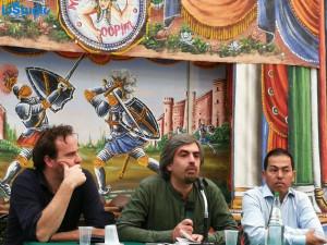 Da sinistra: Francesco Casolo, Carlo Giordano e Alì Ehsani.