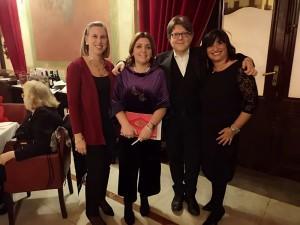 da sx: Paola Catania, Angela Piraino, Marco Betta, Marianna Amato