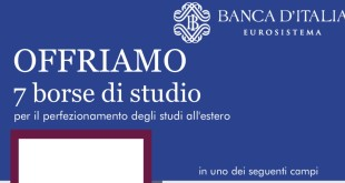 Banca d'Italia, sette borse di studio per neolaureati