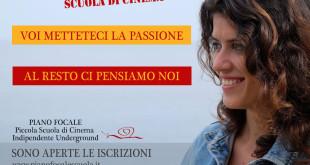 APERTE LE ISCRIZIONI ALLA SCUOLA DI CINEMA PIANO FOCALE