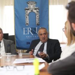 Il Neo Presidente dell'Ersu Giuseppe Di Miceli con L'assessore regionale all'Istruzione e formazione professionale Roberto Lagalla.