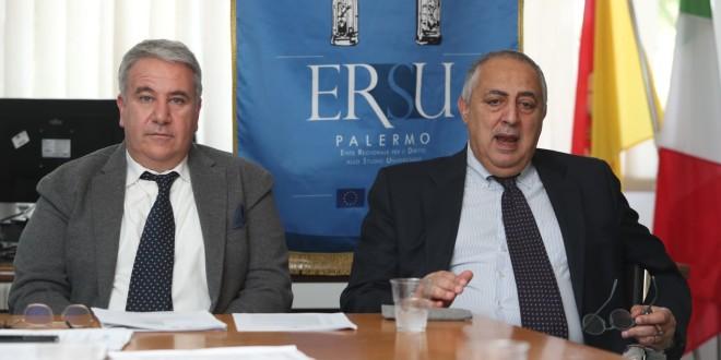 Il Neo Presidente dell'Ersu con Giuseppe Di Miceli con L'assessore regionale all'Istruzione e formazione professionale Roberto Lagalla.