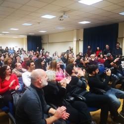 il pubblico durante l'incontro con Claudio Gioè