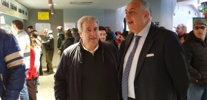(da sx: il presidente ERSU Giuseppe Di Miceli e l'assessore regionale dell'Istruzione Roberto Lagalla durante l'iniziativa INSIEME A TAVOLA)