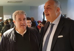 (da sx: il presidente ERSU Giuseppe Di Miceli e l'assessore regionale dell'Istruzione Roberto Lagalla presso il ristorante universitario Santi Romano)
