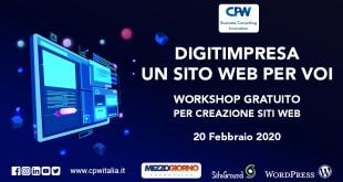 A Palermo arriva DIGITIMPRESA, un Workshop gratuito per creazione siti web