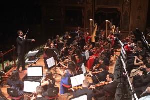 Omer Meir Wellber dirige la Massimo Kids Orchestra ©Franco Lannino IMG_9673