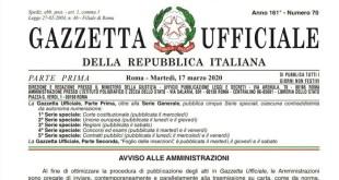 Cura Italia, Il Decreto Legge 17 Marzo 2020