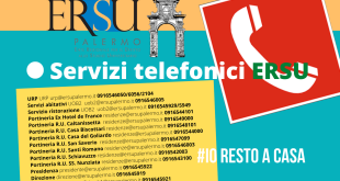 IO RESTO A CASA. Il post it con i numeri telefonici e le mail dell'ERSU