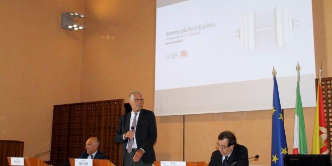 Presentazione novità AA 2020-2021 da sx il DG Romeo, il Rettore Micari, il Prorettore Mazzola