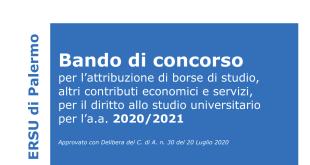 Concorso benefici ERSU 2020/21: fino alle ore 14 del giorno 12 ottobre 2020 è possibile rettificare o integrare la richiesta di partecipazione