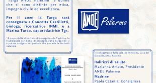 Locandina Targa ANDE PALERMO 2020