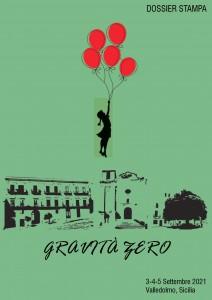 Gravità zero, copertina del dossier stampa © INTO THE SKY, 2021
