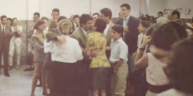 UNIPA 1991, subito dopo la proclamazione di una delle prime lauree in psicologia a Palermo